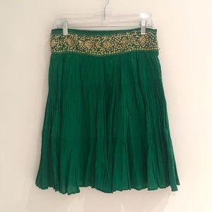 BCBG Boho Green Skirt
